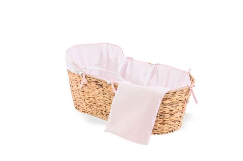 Hyacinth Moses Basket - Cotton Dream Pink